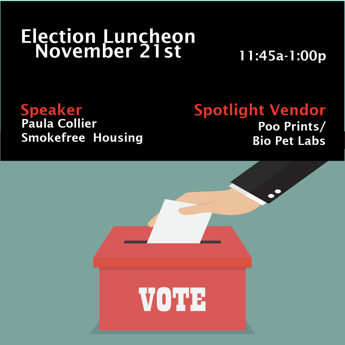 November Election Luncheon @ The Chattanooga Theatre Centre | Chattanooga | Tennessee | United States